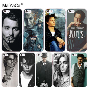 MaiYaCa johnny depp Coque Kabuk Telefon Kılıfı Apple iphone 8 7 6 6 S Artı X 5 5 S SE 4 S kapak