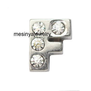 10pcs letter F floating charms for glass locket, FC-125