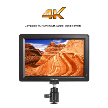 F7 7 Inç Utra Ince IPS Full HD 1920x1200 4 K HDMI On-kamera Video LCD Monitör için Canon Nikon Sony DSLR Kamera Video