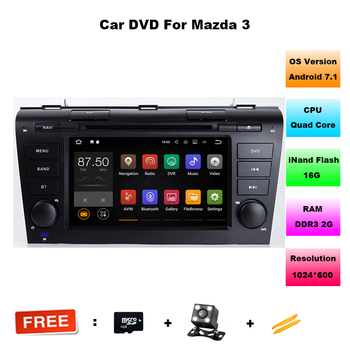 Quad Core Android 7.11 2 GB DDR3 Mazda3 axela Için Araba DVD araç Multimedya Mazda 3 Bluetooth 4.0 WIFI Desteği 4G DAB + DVR