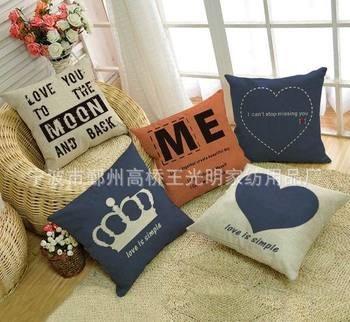 Promotion creative ZAKKA cushion cover 45X45cm decorative throw pillow cover for home & sofa cotton linen