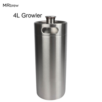 4L Paslanmaz Çelik Fıçı Tarzı Bira Growler Mini Bira Keg Homebrew Growler Mini Keg